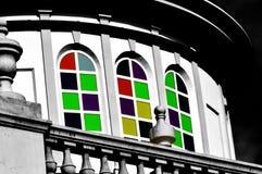 Colorful church. San Cristobal de La Laguna stock images