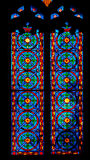 Colorful Church Stained Glass Against Light In The Metropolitan Cathedral Basilica of the Assumption of Our Lady of Valencia Royalty Free Stock Photos