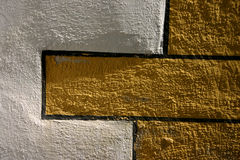 Colorful Church Wall. Ornamental paint of an old church wall royalty free stock photo