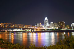 Colorful Cincinnati Royalty Free Stock Photography