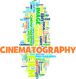 Colorful Cinematography. Gorgeous words cloud for your design Royalty Free Stock Image