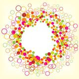 Colorful circle. Decorate background, ball vector Royalty Free Stock Photos