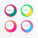 Colorful circle abstract banner with text space. Illustration vector illustration