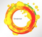 Colorful circle. Abstract dynamic colorful round frame, EPS1 vector Royalty Free Stock Photos
