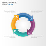 Colorful circle arrow Infographic elements presentation templates flat design set for brochure flyer leaflet marketing Stock Photography