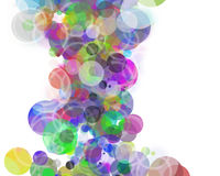 Colorful circle background with copyspace stock illustration