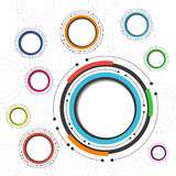 Colorful circle background Royalty Free Stock Image