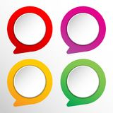 Colorful Circle badge. With 3D design and colorful stock illustration