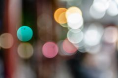 Colorful of  circle bokeh burry Stock Photography