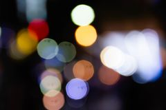 Colorful of  circle bokeh burry Stock Image