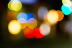 Colorful of  circle bokeh burry Stock Images