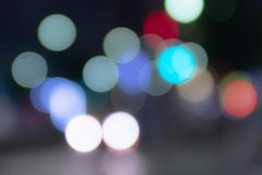Colorful of  circle bokeh burry Stock Photo