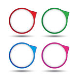 Colorful circle bubble tag for creative work Royalty Free Stock Photography