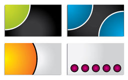 Colorful circle business card set Stock Image