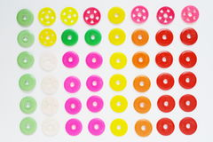 Colorful circle button. Colorful circle wheels stock photography