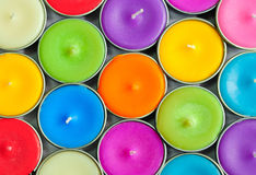 Colorful circle candle Stock Image