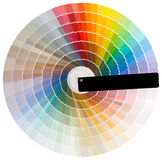 Colorful circle cutout. Colorful circle swatch with facade colors isolated with clipping path Stock Photography