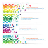 Colorful circle design Stock Photography