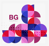 Colorful circle elements. Vector template background for workflow layout, diagram, number options or web design Royalty Free Stock Images