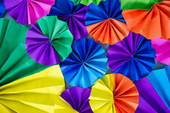 Colorful circle of fans paper Stock Photo