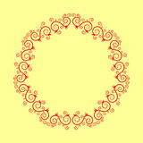 Colorful circle floral frames with swirls. Vector illustration. Colorful circle floral frames with swirls. Vector illustration royalty free illustration