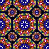 Colorful circle flower mandalas Royalty Free Stock Photography