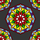 Colorful circle flower mandalas Royalty Free Stock Images