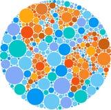 Colorful circle globe Stock Photos