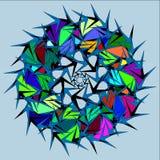 Colorful circle globe. royalty free illustration