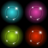 Colorful circle glow vector abstract background Stock Images
