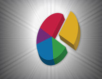 Colorful Circle Graph Royalty Free Stock Images