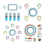 Colorful circle infographic set Stock Image