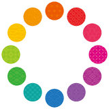 Colorful circle with Japanese traditional design. Stock Image