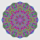 Colorful Circle Kaleidoscope Backdrop. Mosaic Abstract Flower of Stock Photo