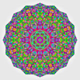 Colorful Circle Kaleidoscope Backdrop. Mosaic Abstract Flower Stock Photography