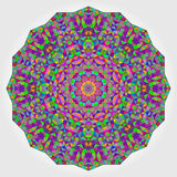 Colorful Circle Kaleidoscope Backdrop. Mosaic Abstract Flower of Royalty Free Stock Photography