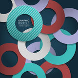 Colorful circle layout design for poster Stock Image