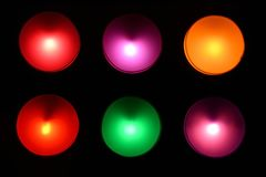 Colorful circle lights background. Colorful circle lights background on the wall Royalty Free Stock Image