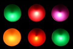 Colorful circle lights background. Colorful circle lights background on the wall Royalty Free Stock Images