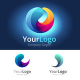 Colorful Circle Logo. Circle logo with colorful circle elements Stock Photo