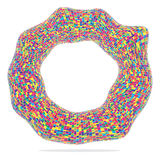 Colorful circle. Made from square pieces Stock Images