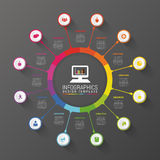 Colorful Circle. Modern Infographic Design Template. Business concept. Vector illustration Stock Photography