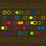 Colorful Circle Pattern Stock Photos