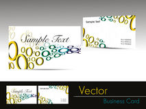 colorful circle pattern business card Stock Photos