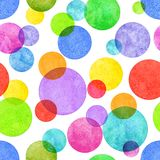 Colorful circle grunge seamless pattern. Colorful circle seamless pattern with grunge effect. Colorful abstract geometric round shape sphere disc disk texture on Stock Photos
