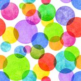 Colorful circle grunge seamless pattern. Colorful circle seamless pattern with grunge effect. Colorful abstract geometric round shape sphere disc disk texture on Stock Photo