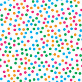 Colorful circle seamless pattern on white background Stock Photos