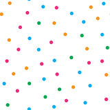 Colorful circle seamless pattern on white background Royalty Free Stock Photos