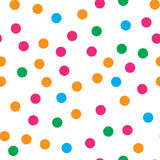 Colorful circle seamless pattern on white background Stock Photography