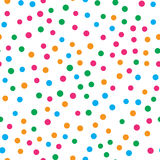 Colorful circle seamless pattern on white background Royalty Free Stock Photography